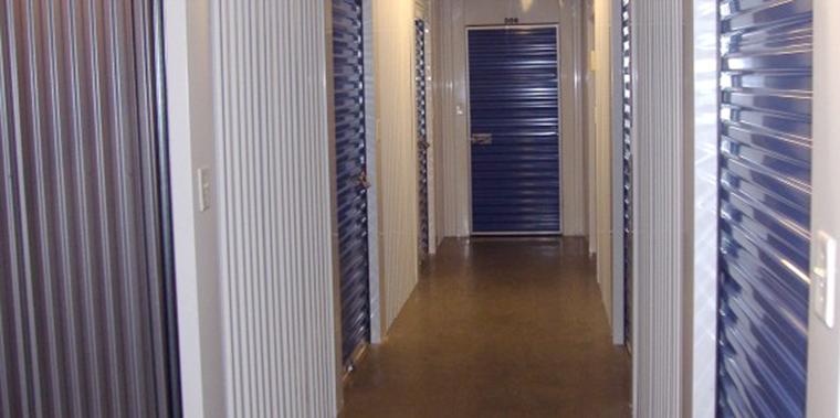 interior view of storage area
